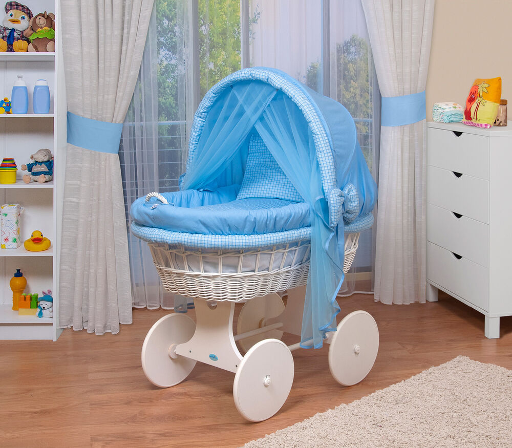 waldin baby bollerwagen stubenwagen xxl neu blau ebay. Black Bedroom Furniture Sets. Home Design Ideas