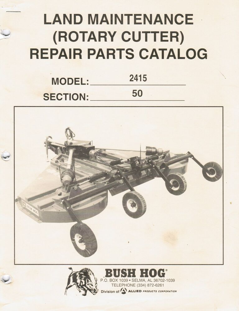 Replacement Bush Hog Tiller Parts : Bush hog rotary cutter repair parts manual ebay