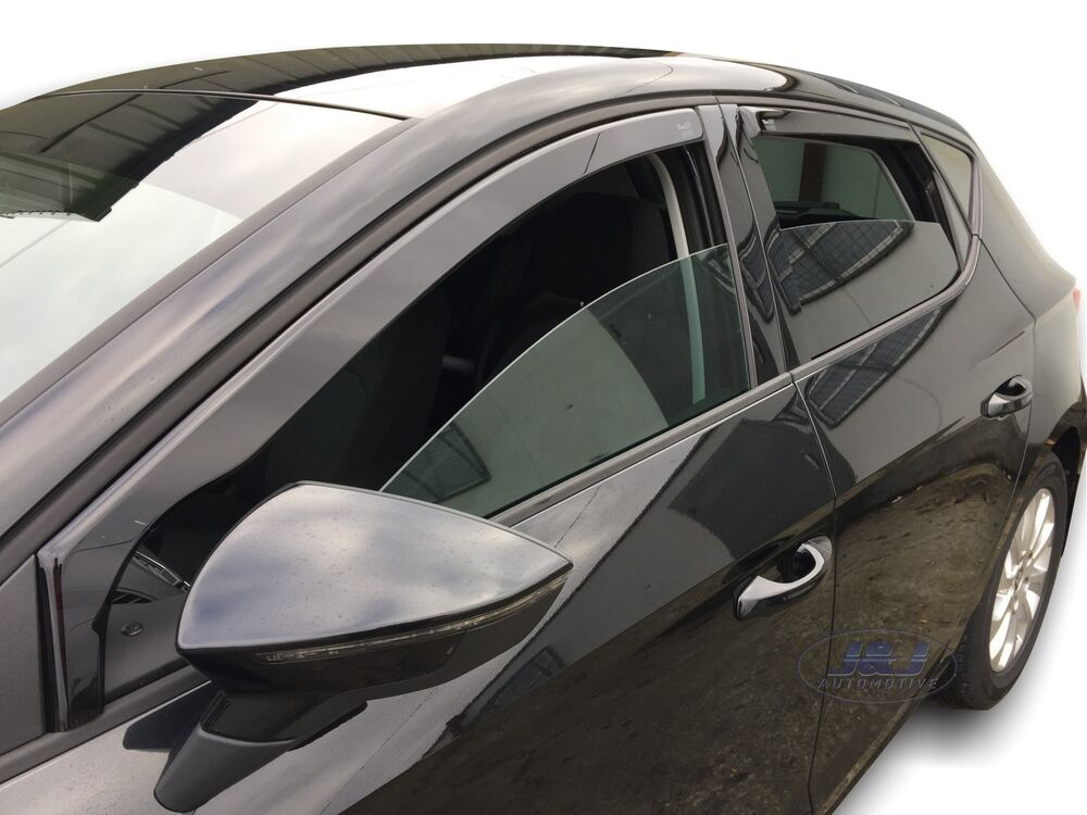 seat leon mk3 cupra fr 2013 up wind deflectors 4pc set. Black Bedroom Furniture Sets. Home Design Ideas