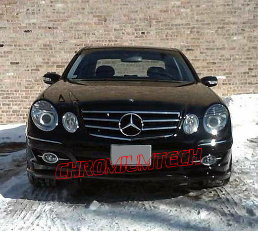 2009 Mercedes Benz Cl Class Exterior: 2007-2009 Mercedes W211 E-Class BLACK CHROME SPORTS GRILL