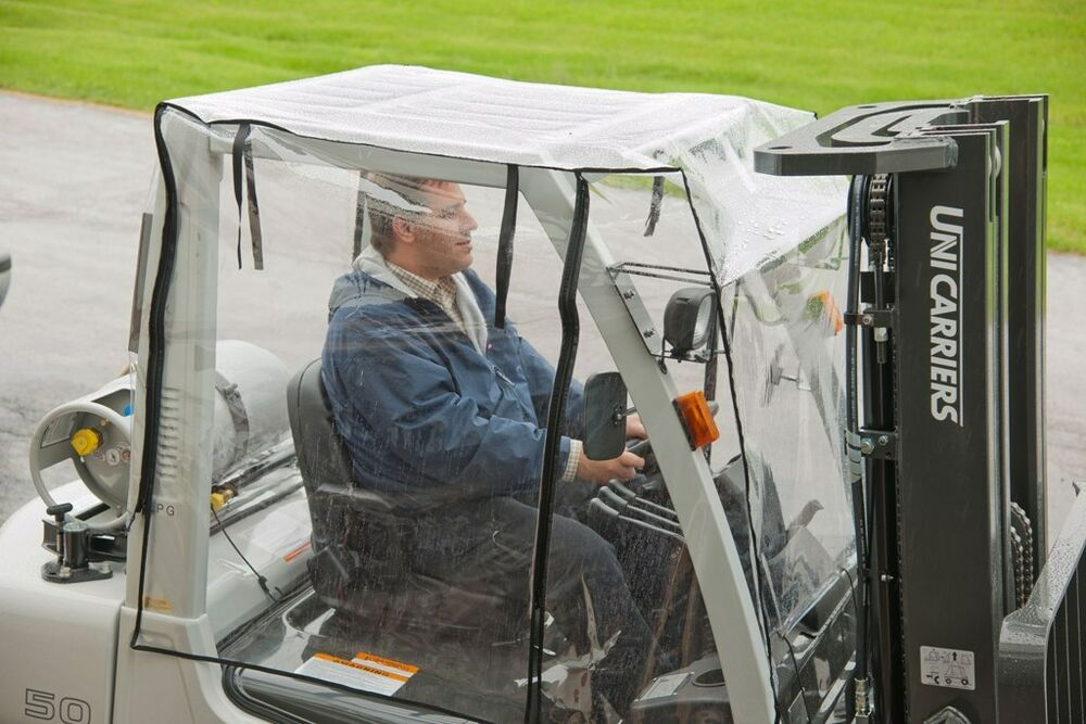 Heavy Duty Full Forklift Cab Enclosure Cover Clear Vinyl