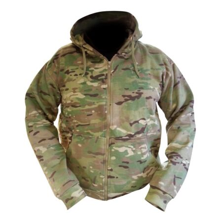 img-Multicam / MTP Match Zipped Camo Hoodie All Sizes Military / Hunting Warm Jacket