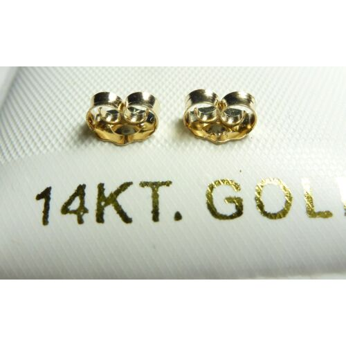 100/% GUARANTEED! 14KT GOLD PUSH ON//SCREW OFF REPLACEMENT BACKS 2