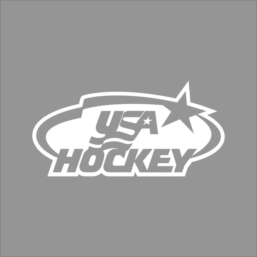 Team usa hockey logo 1color vinyl decal sticker car window for Usa hockey coloring pages