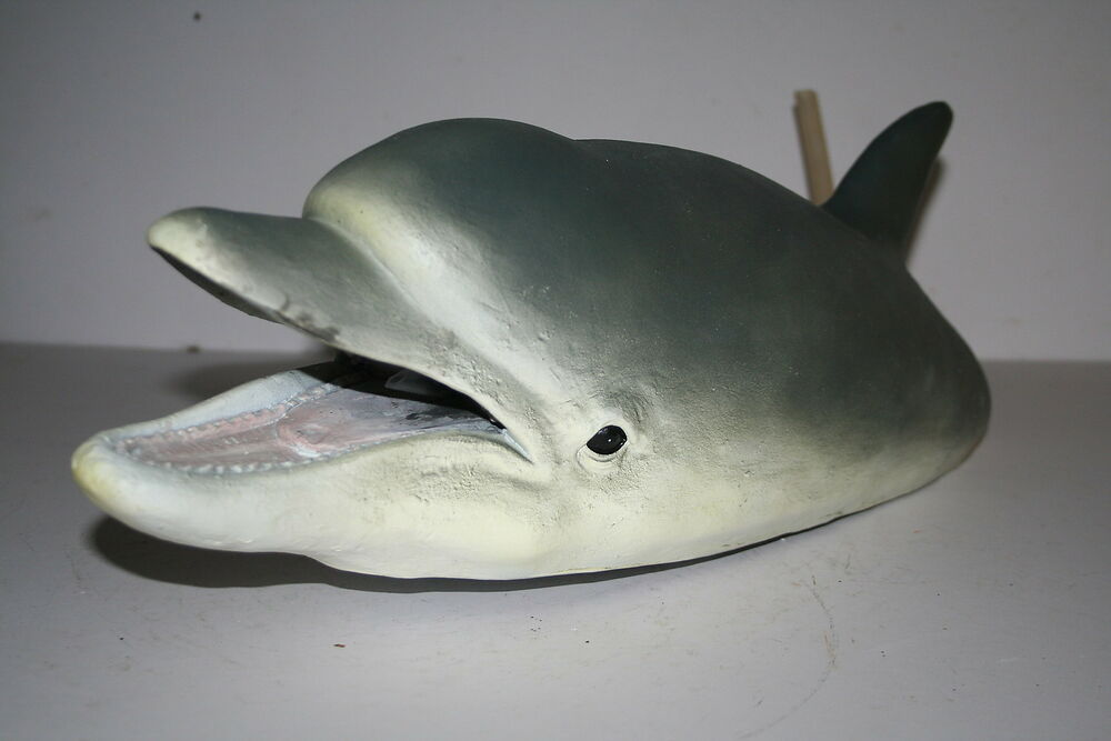 Floating Dolphin Head Fountain Lovely Pond Ornament Or