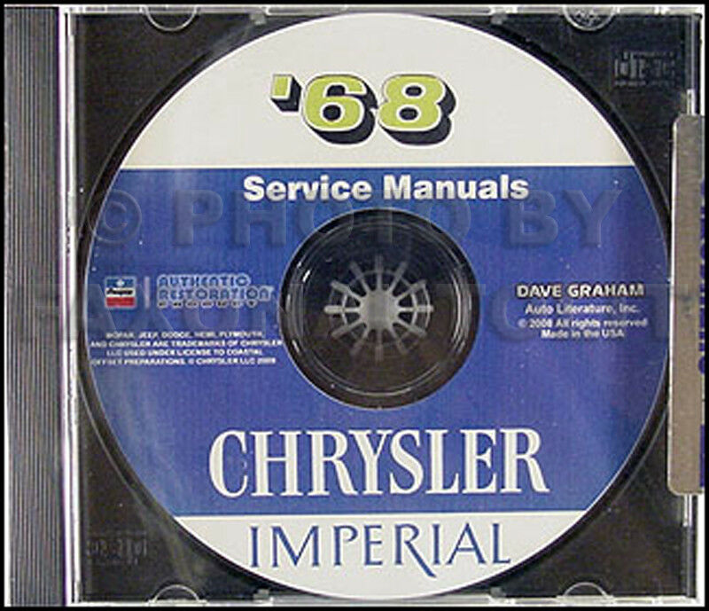 1968 Chrysler Shop Manual CD 68 Imperial 300 New Yorker