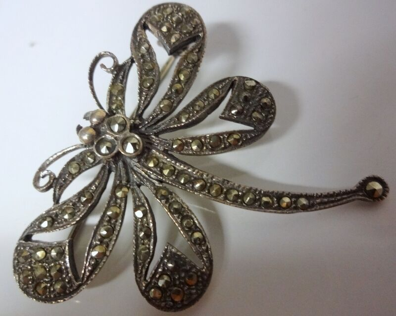Vintage Signed ATI TH Sterling Silver 925 Marcasite ...