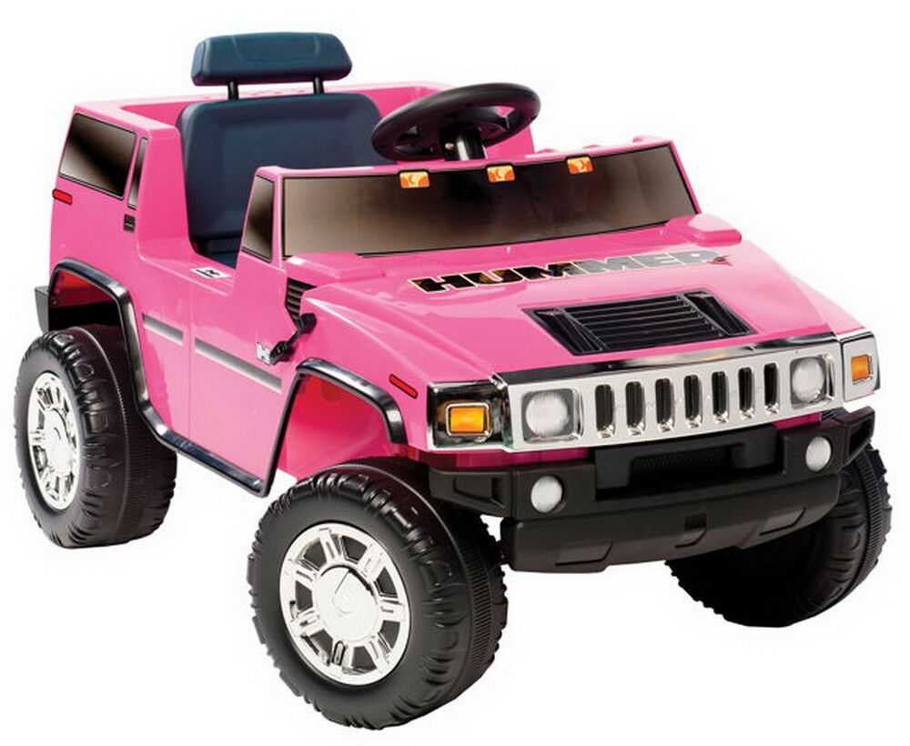 Electric Toy Cars For Girls : New girls pink ride on hummer electric v suv toy