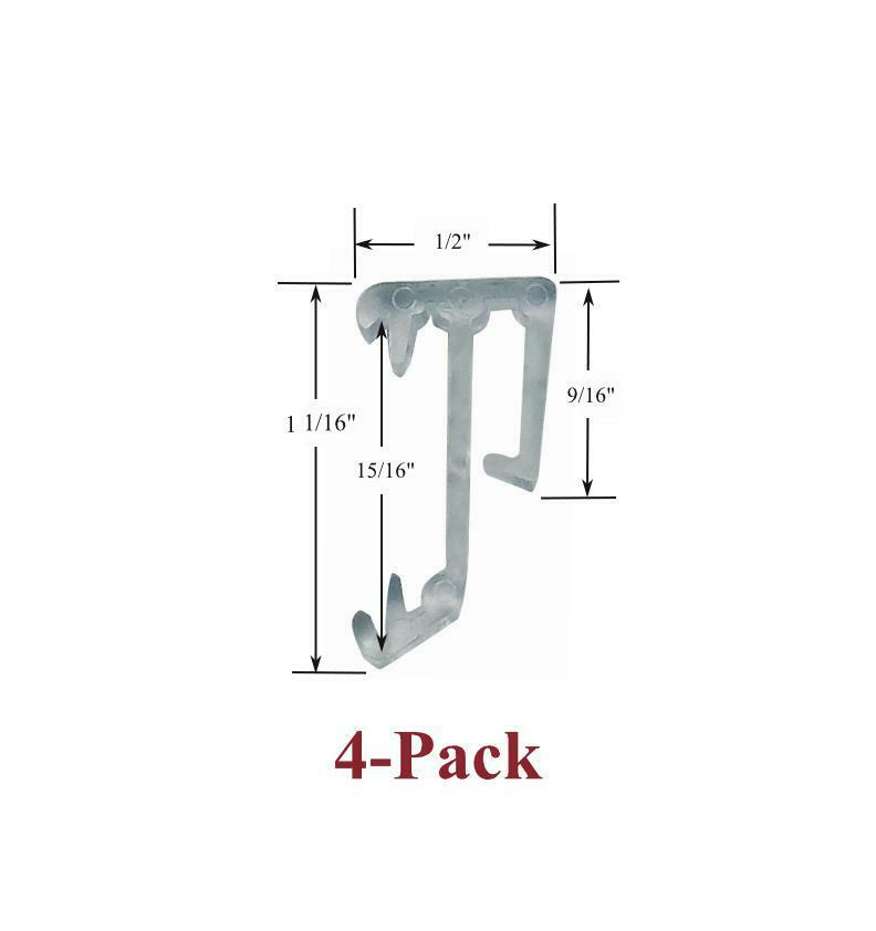 Two Pair 1 Quot Single Slat Clear Valance Retainer Clips For