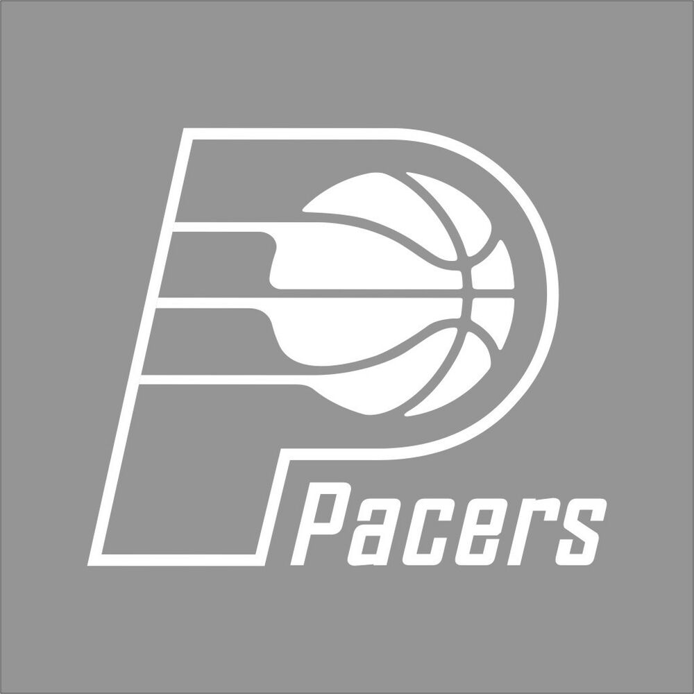 Indiana pacers nba team logo 1color vinyl decal sticker for Indiana pacers coloring pages