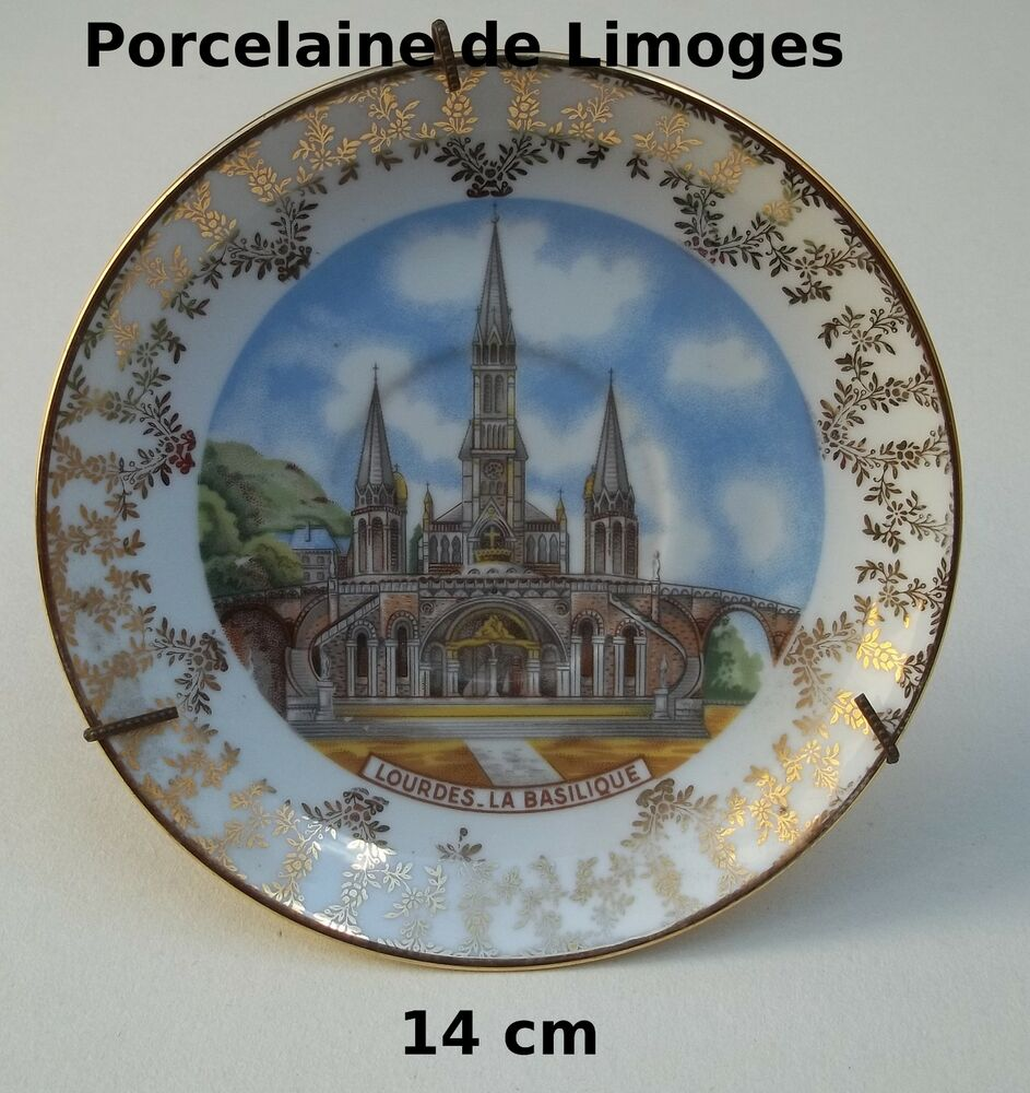 assiette porcelaine de limoges jammet seignolles collection basilique lourdes t3 ebay. Black Bedroom Furniture Sets. Home Design Ideas