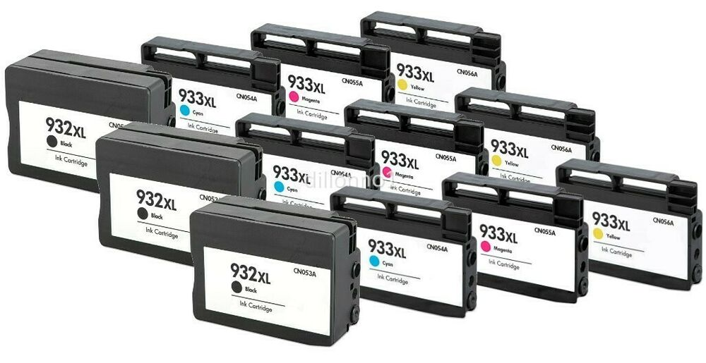 12 pack for hp 932xl 933xl ink cartridges for officejet 6100 6600 printer series ebay. Black Bedroom Furniture Sets. Home Design Ideas