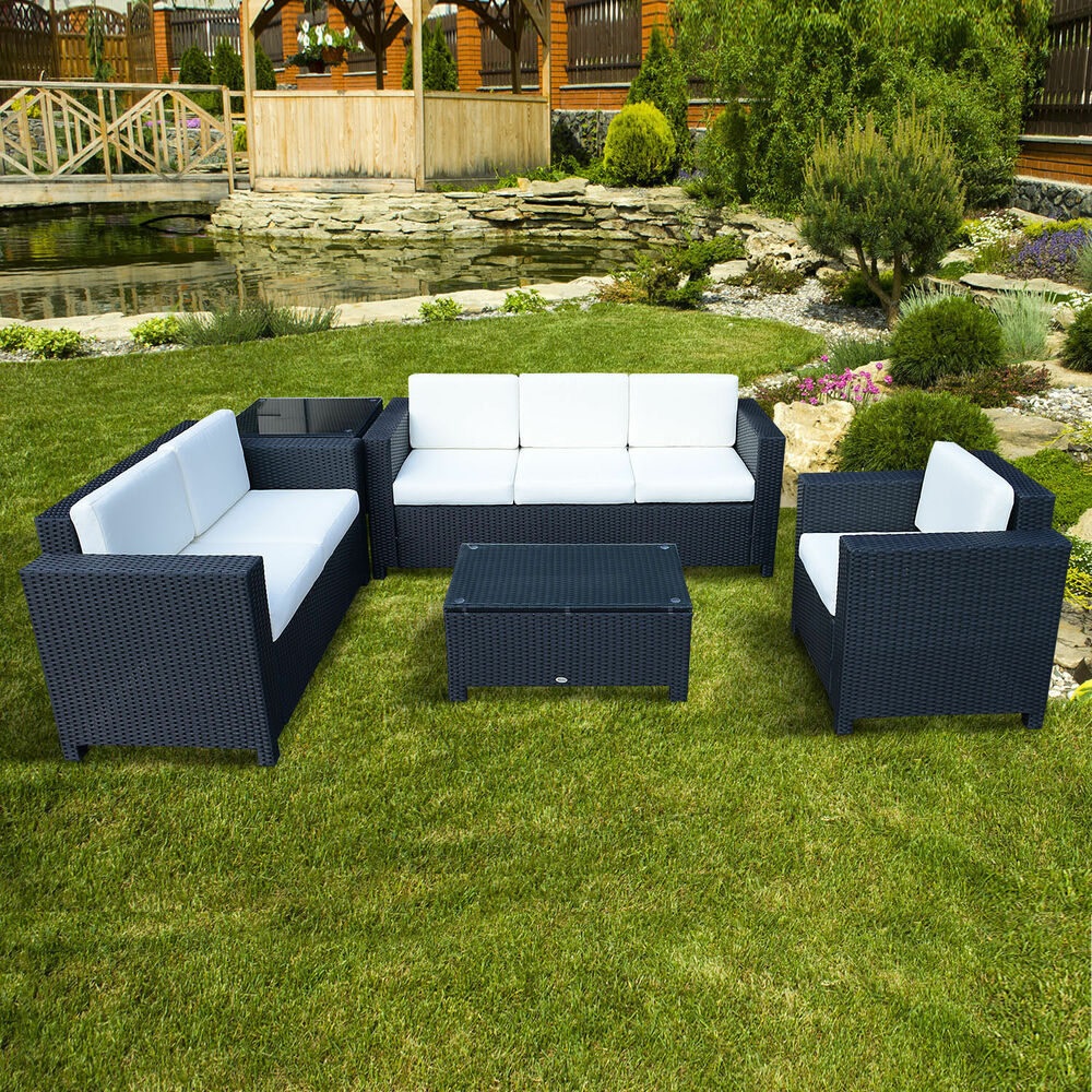 Outdoor rattan garden patio wicker weave furniture table for Rattan garden furniture