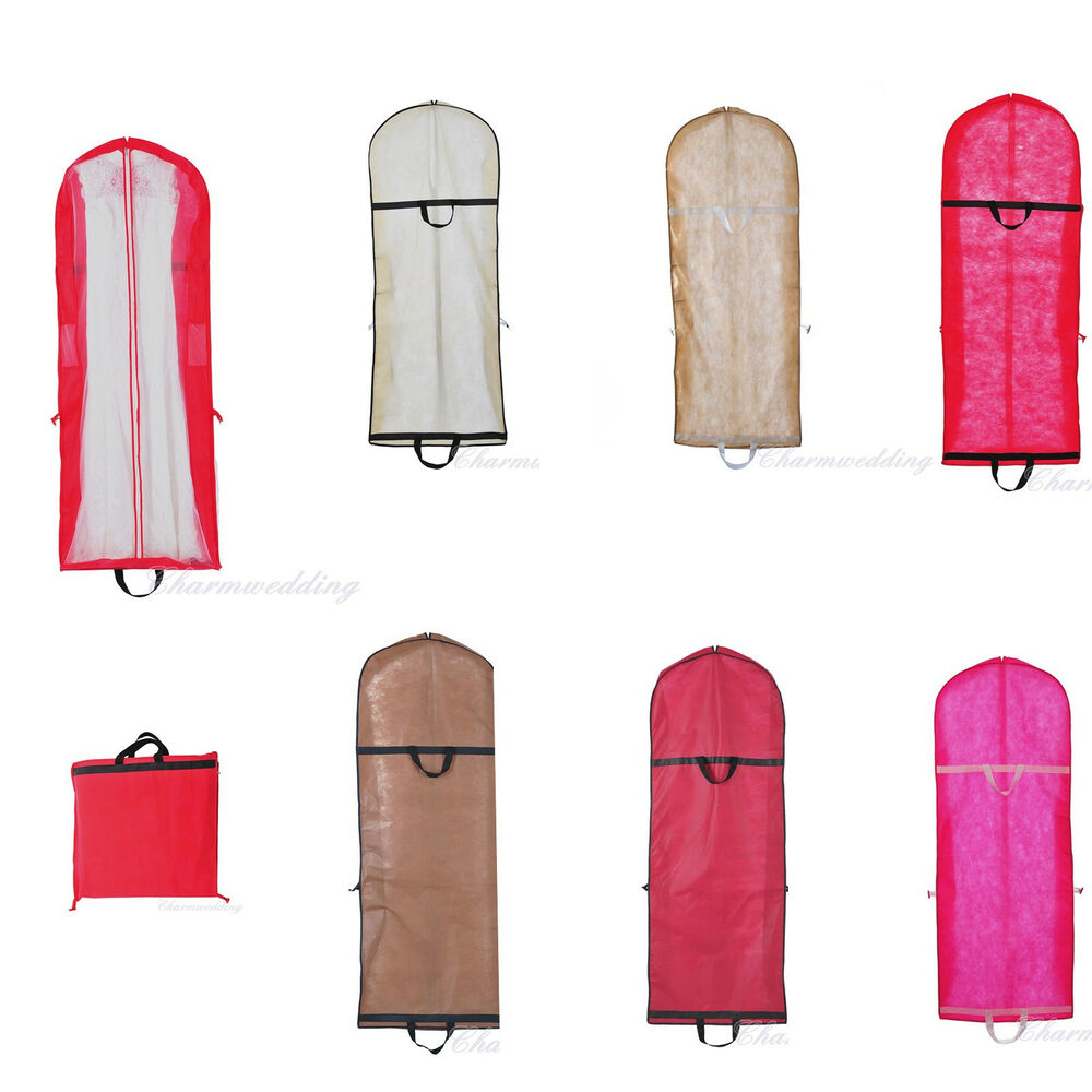 6 colors wedding bridal gown garment bags prom party dress for Storing wedding dress in garment bag