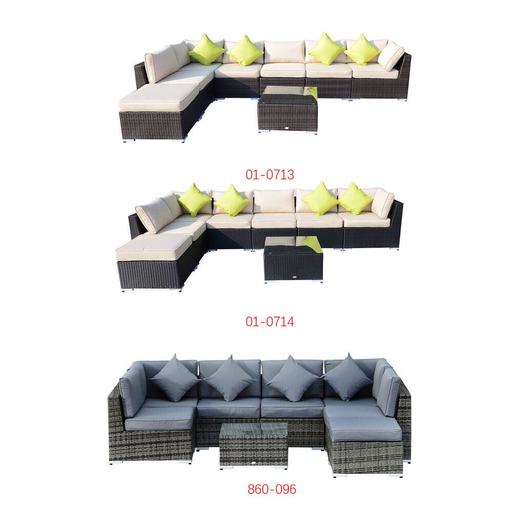 Rattan Outdoor Garden Furniture Patio Corner Sofa Set