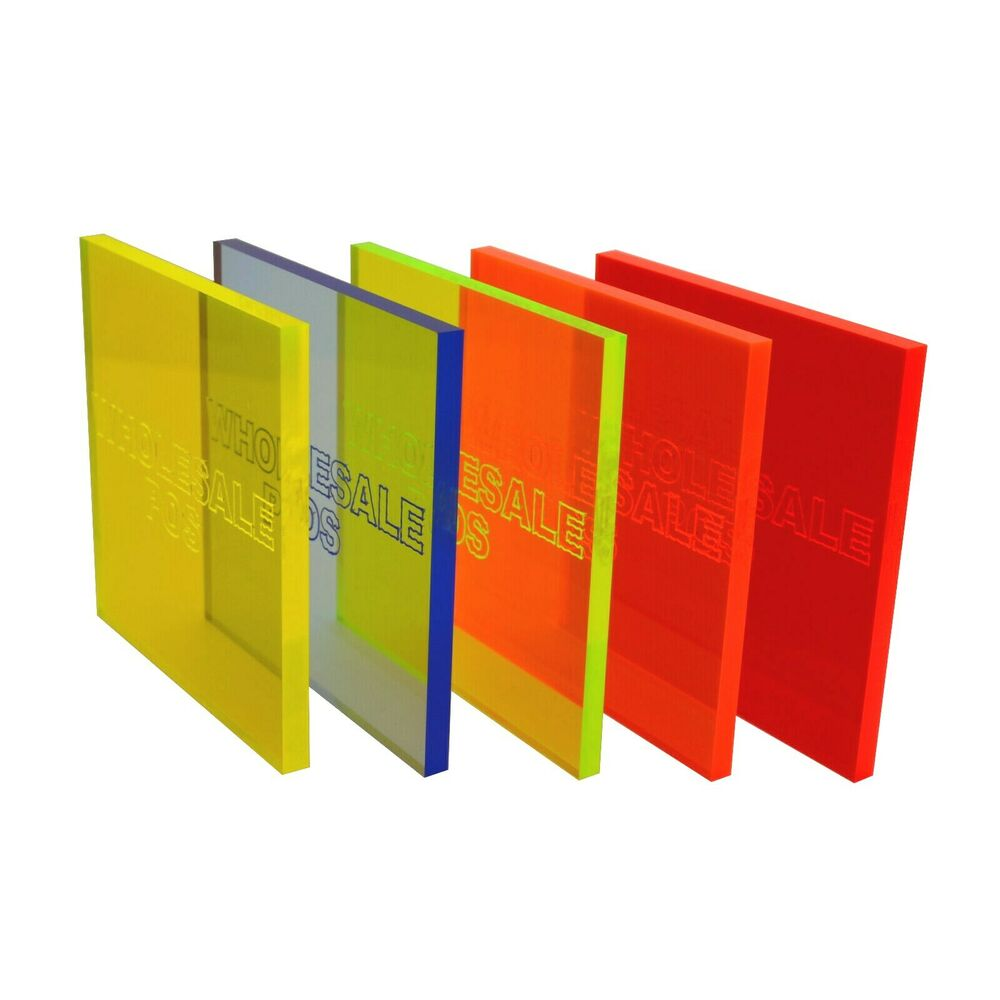 Perspex Acrylic Cast Fluorescent Coloured Sheet Blue