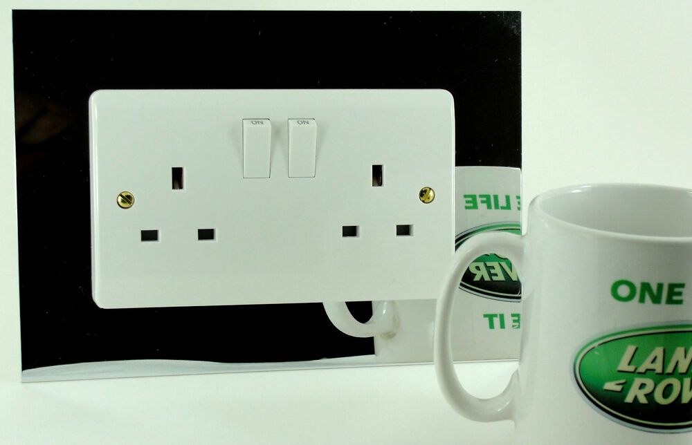 Coloured Double Twin Plug Socket Amp Light Switch Finger
