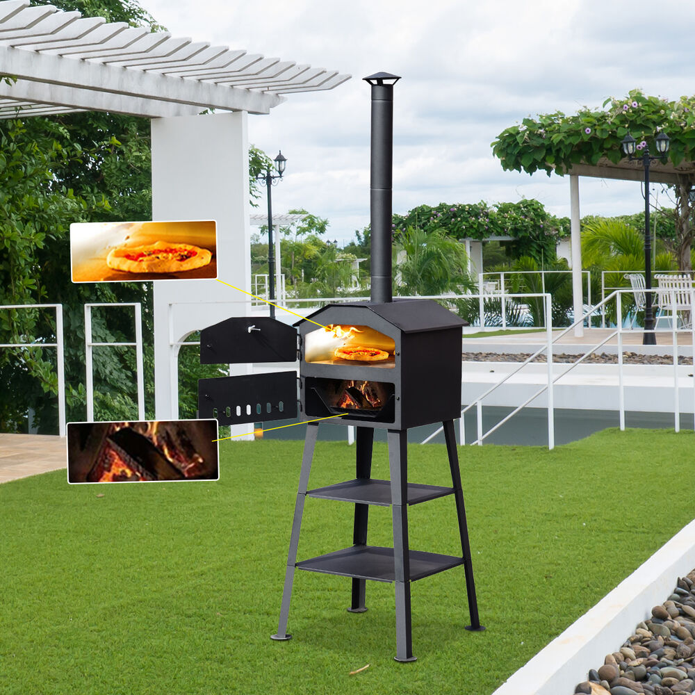 Outdoor Bbq Kitchen Ideas: Pizza Oven BBQ Barbecue Grill Patio Outdoor Garden Heating