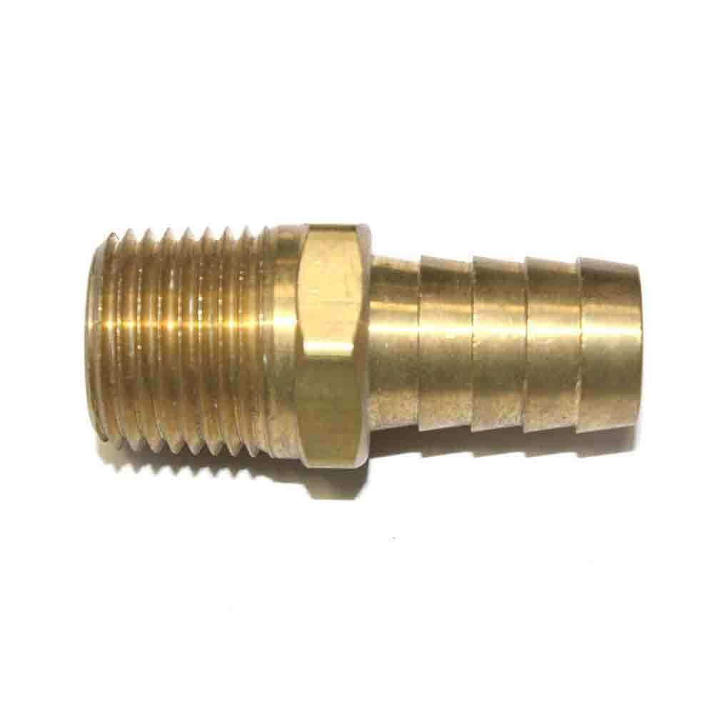 Brass hose barb fitting connector npt