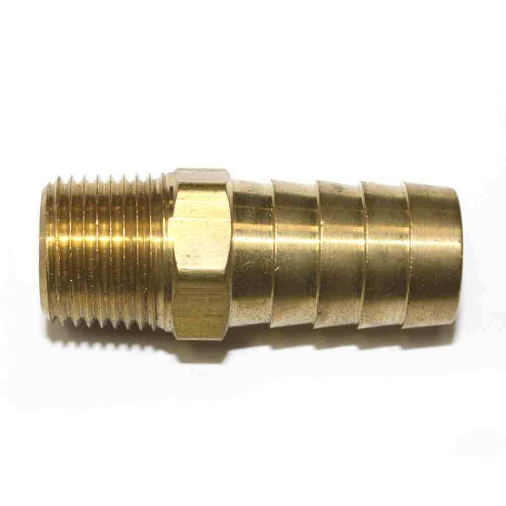 Brass Hose Barb Fitting Connector 5 8 Barb X 3 8 Npt