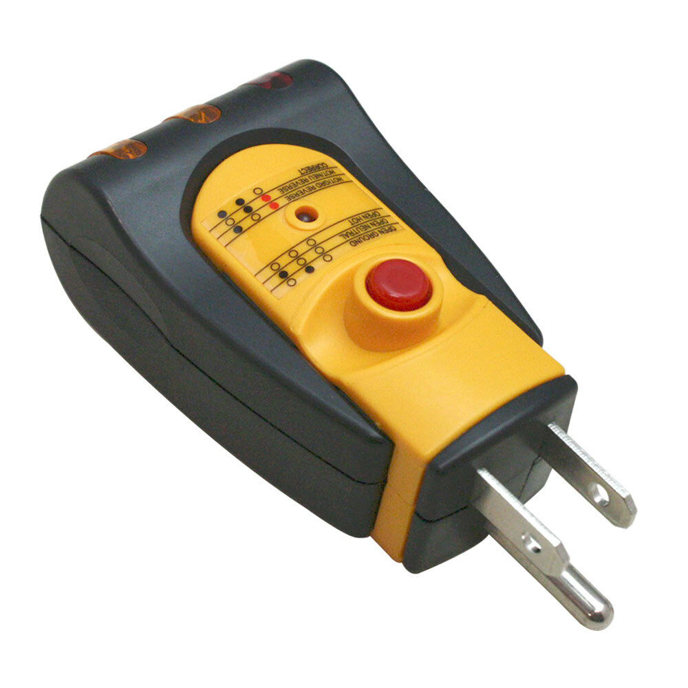 Electrical Wiring Tester : Gfci wire electrical receptacle wall plug ac outlet