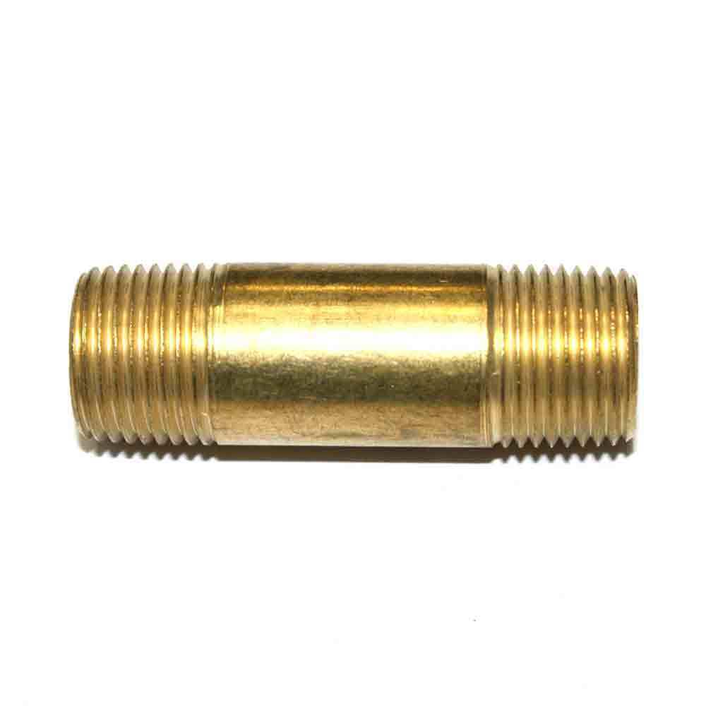 3 8 Quot Npt Male Brass Hex Nipple 2 Quot Extension Fa616ln Ebay