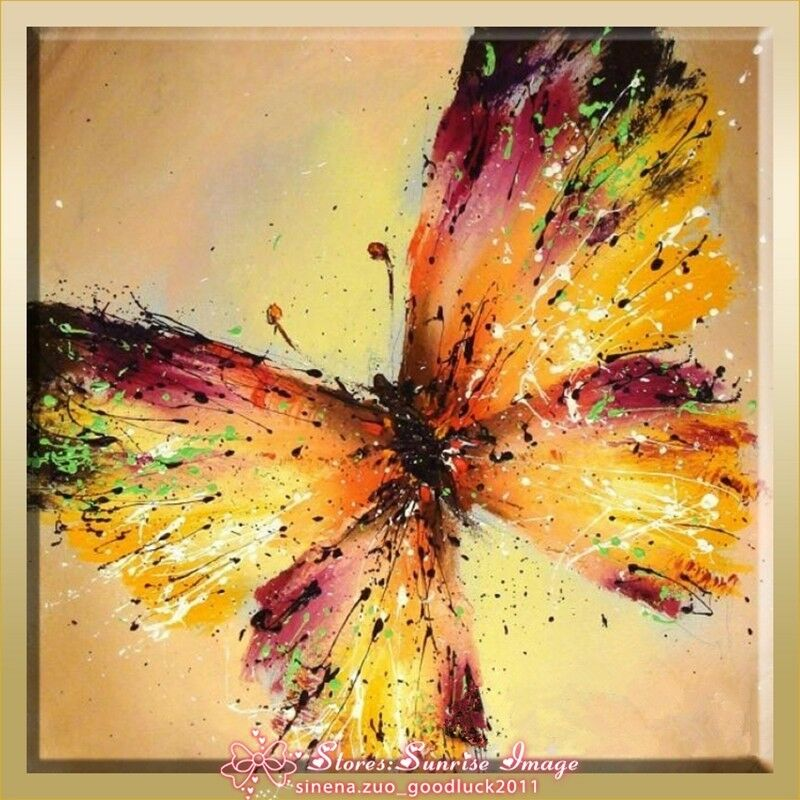 Op1220 hand made abstract insects butterfly oil painting - Decorarte pinturas ...