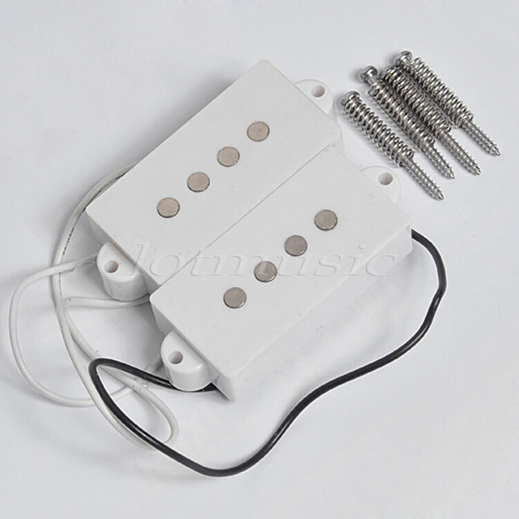 noiseless guitar humbucker pickups for fender 4 string p bass parts white ebay. Black Bedroom Furniture Sets. Home Design Ideas