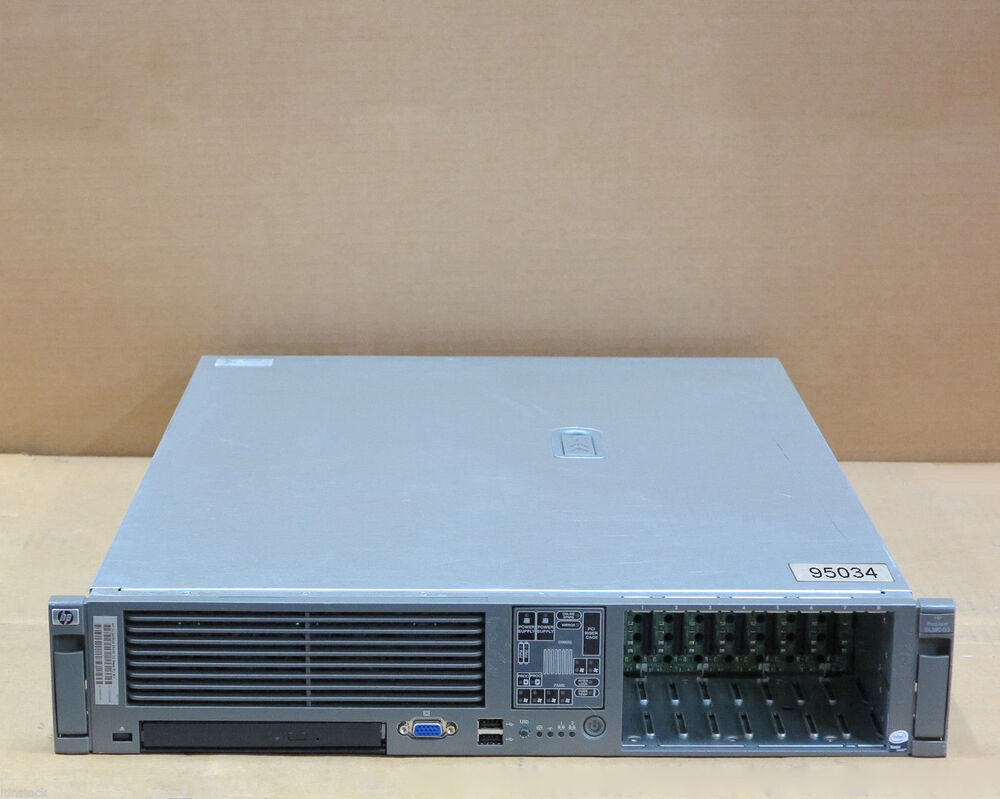 hp proliant dl380 g5 2x quad core xeon 4gb 2u rack server 458563 421 883585432806 ebay. Black Bedroom Furniture Sets. Home Design Ideas