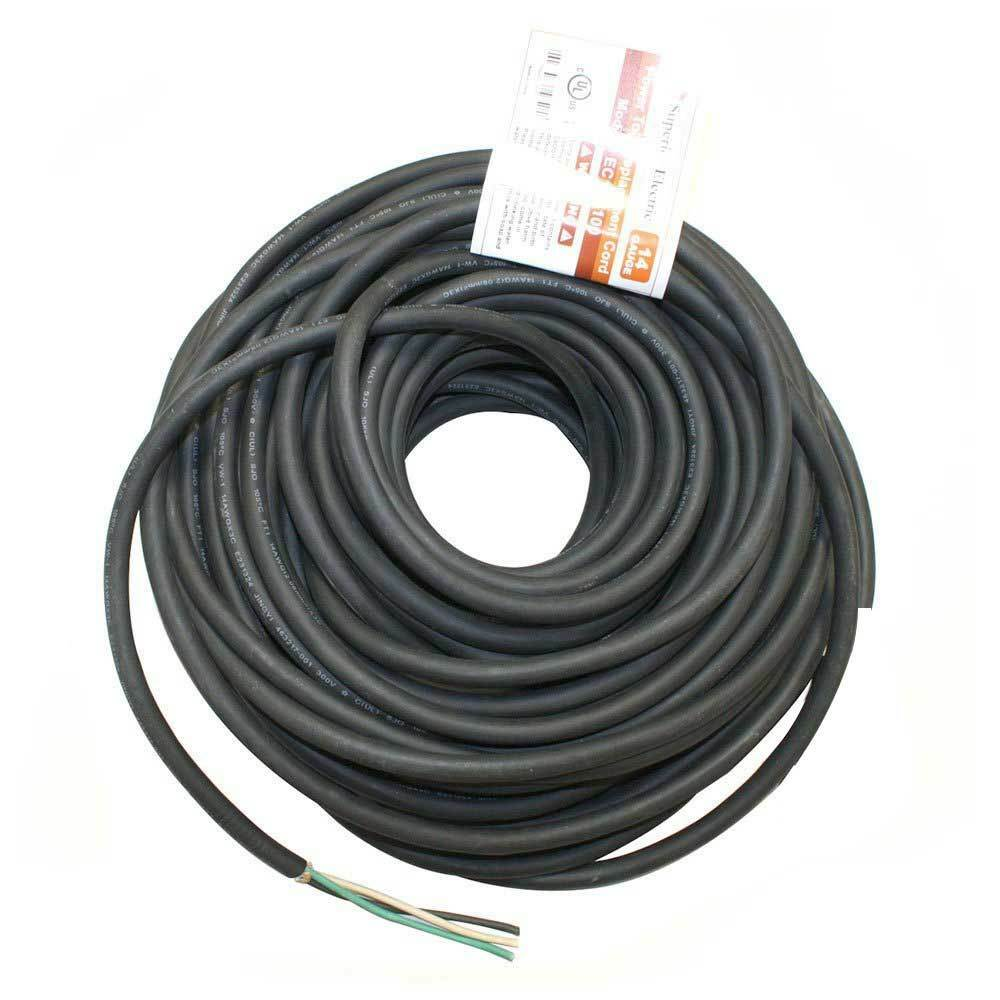 100 Feet 14 Awg Sjo 3 Wire 125 Volt Electrical Cord