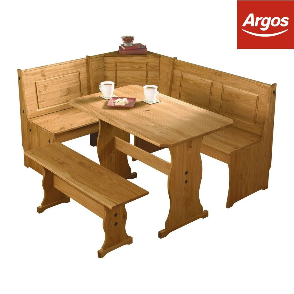 The collection puerto rico 3 corner bench nook table and for Table and bench set