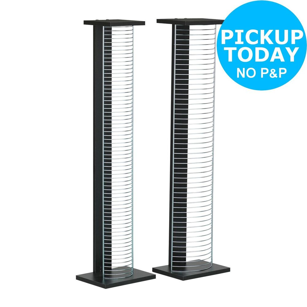 Home Dvd And Cd Media Storage Tower Unit Black And