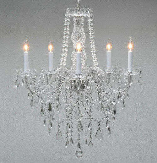Authentic all crystal chandelier chandeliers lighting h30 for Crystal fall