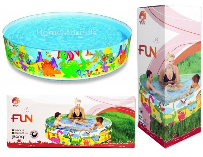 Rigid water swimming paddling pool printed for children for Garden swimming pool ebay