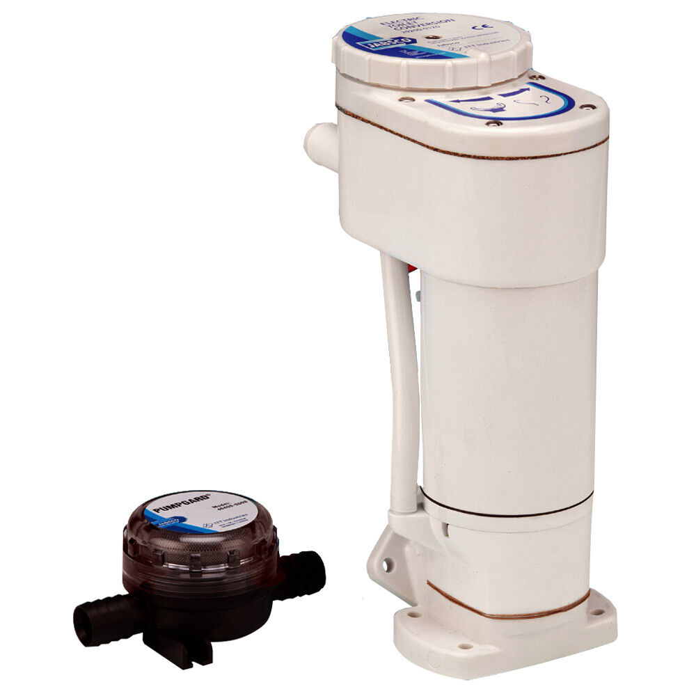 Jabsco Boat Marine Rv 12v Manual To Electric Toilet
