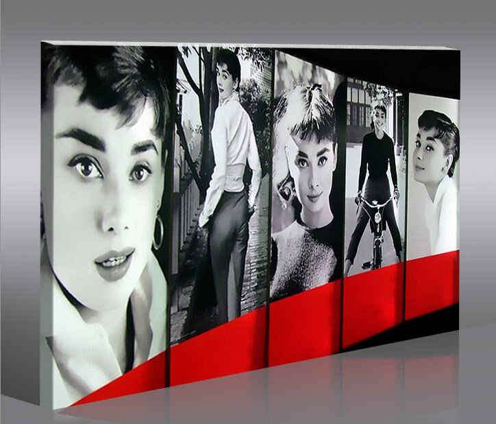 audrey hepburn 1p bild bilder auf leinwand wandbild poster ebay. Black Bedroom Furniture Sets. Home Design Ideas