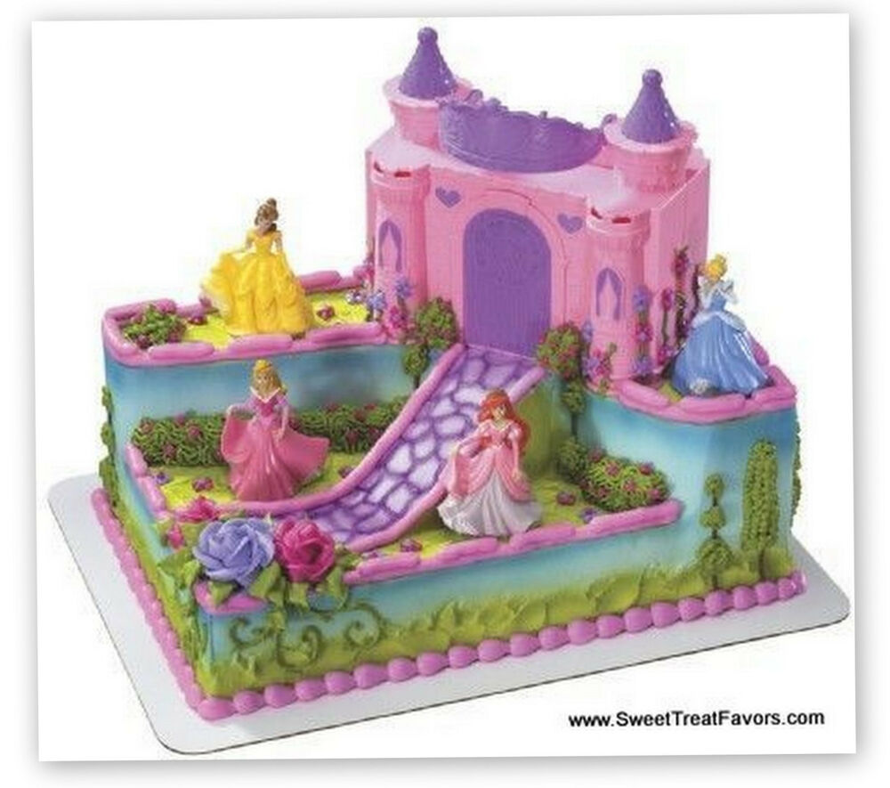 Disney princess cake topper decoration castle kit cupcake for Ariel cake decoration
