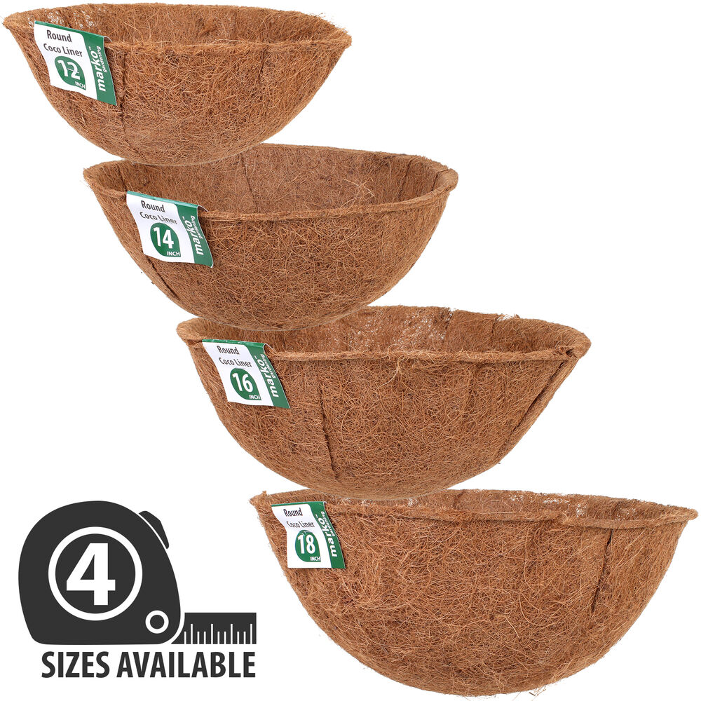 Hanging Basket Coco Liners Moulded Shaped Natural Fibre