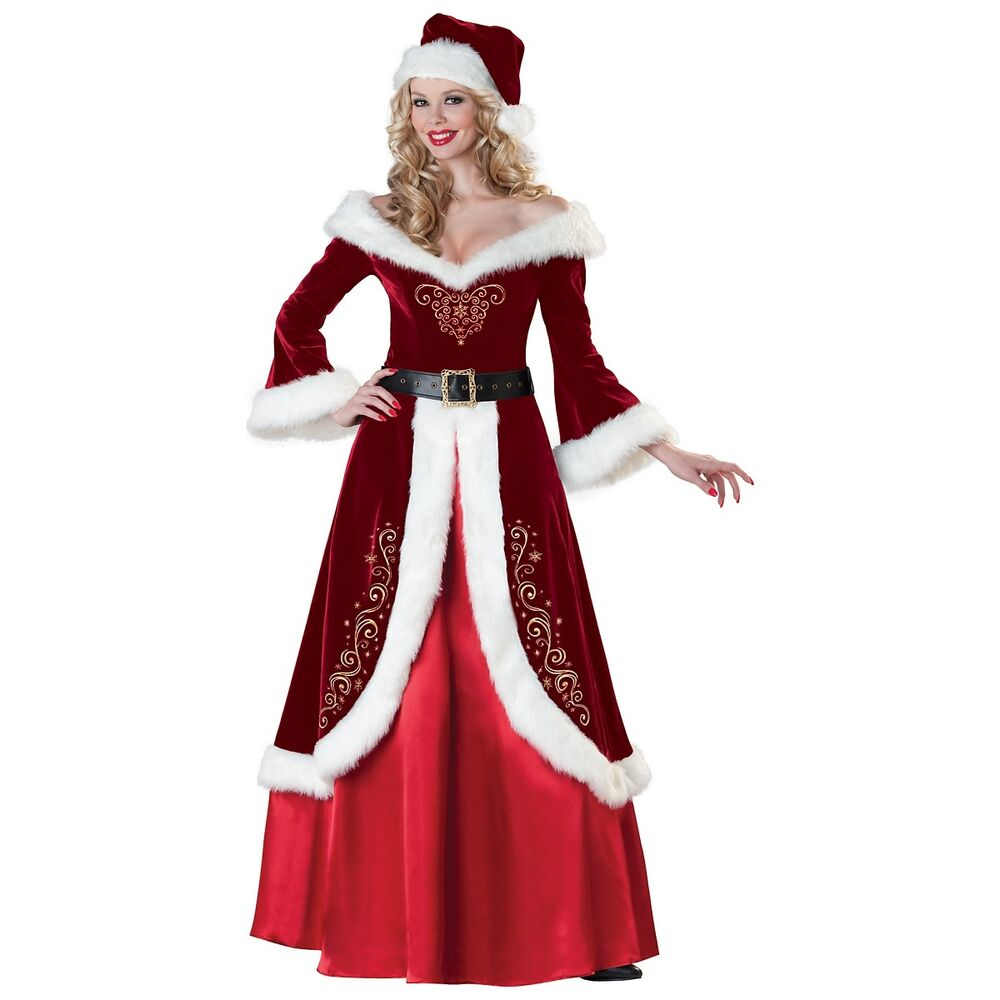 pictures of mrs claus mrs claus costume adult mrs santa christmas outfit fancy 5773