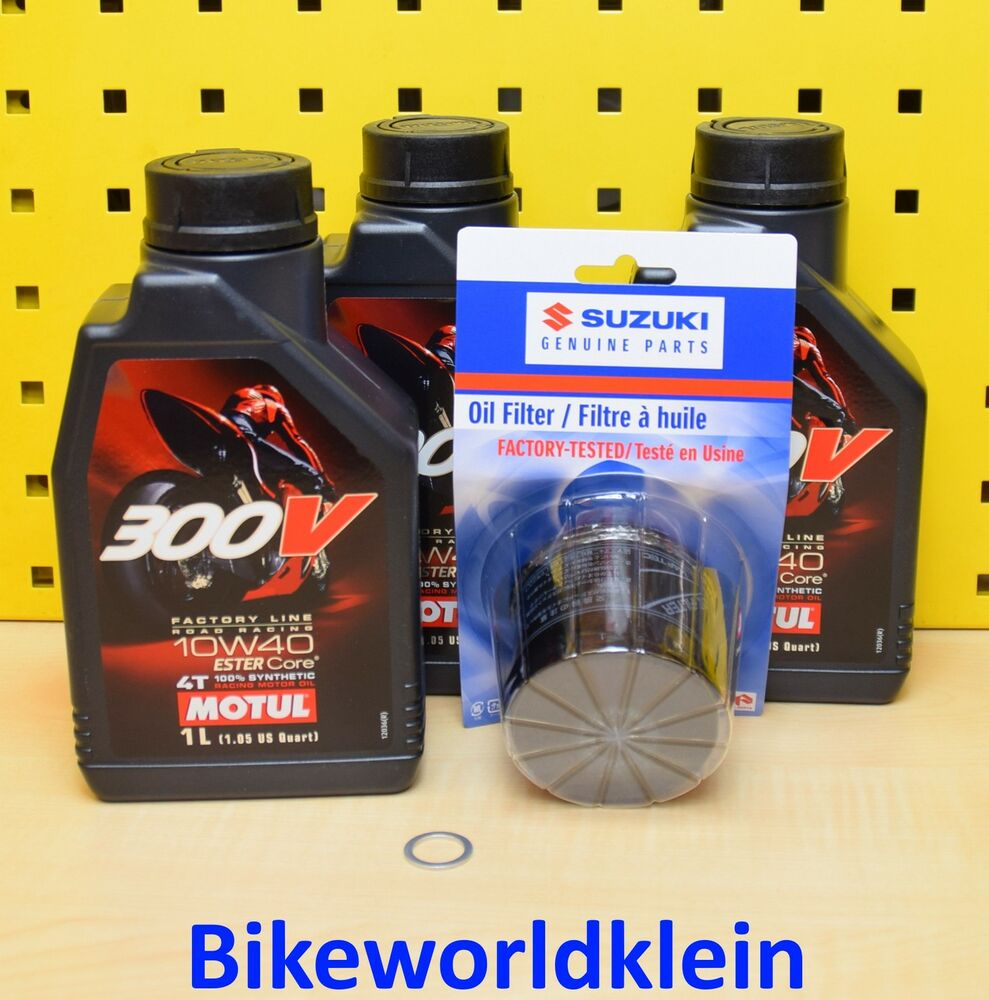 suzuki gsx r 750 06 16 alle l original lfilter motul. Black Bedroom Furniture Sets. Home Design Ideas