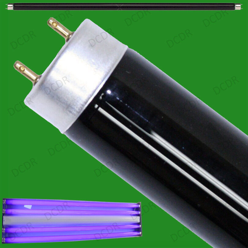 T8 Light Fixture 2ft: 20W T8 UV Ultraviolet Blacklight Fluorescent Tube Strip