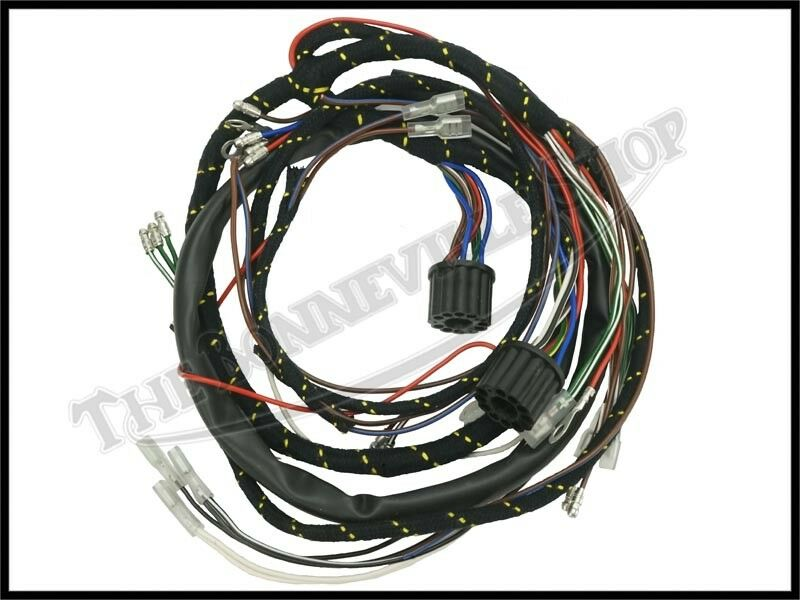 1965 triumph 350 500 650 twins cloth wiring harness lucas ... triumph 650 wiring harness