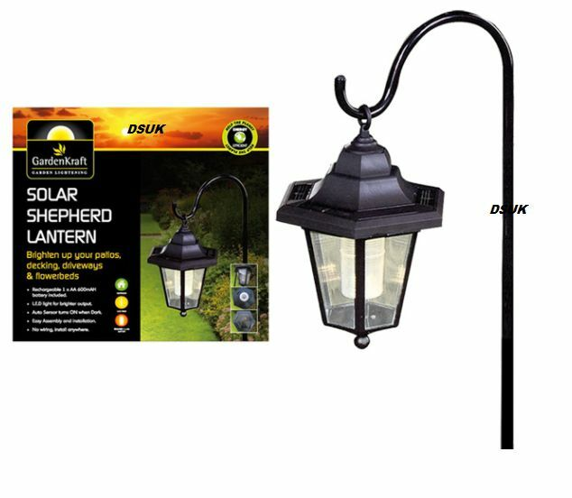 Solar Garden Light Lantern: SHEPHERD LED SOLAR POWERED LANTERN SOLAR LIGHT HANGING