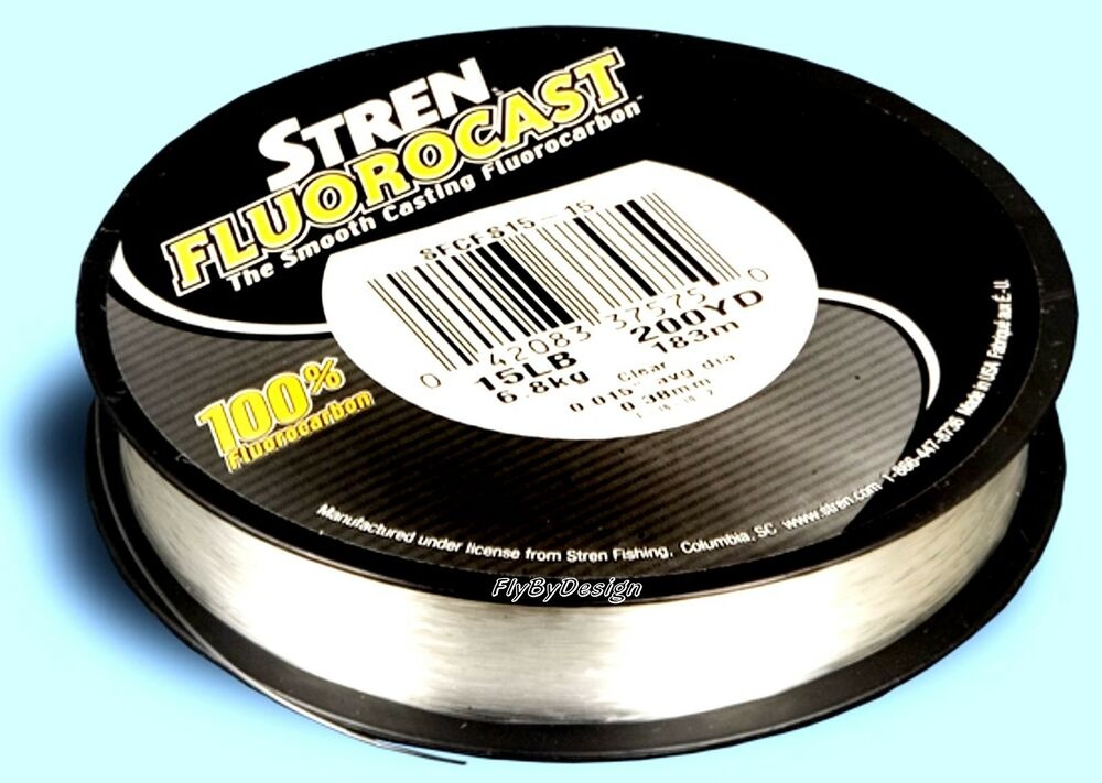 New stren smooth casting 100 fluorocarbon fluorocast for Fluorocarbon fishing line
