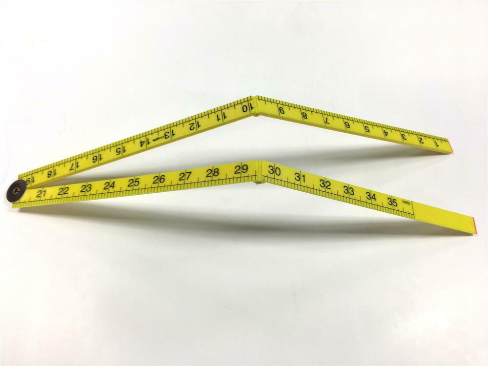 1 Meter 1000mm Yard Stick Ruler Plastic Measure 1Mtr 3ft ...