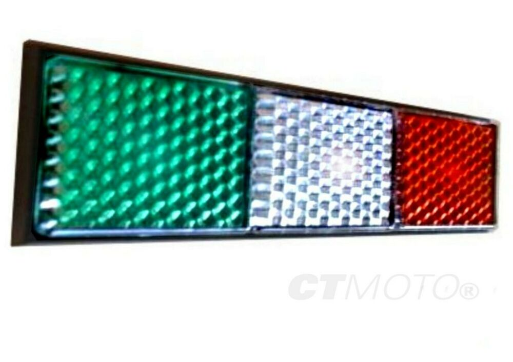 Italian Flag Reflector Sticker Car Van Truck Bike Scooter