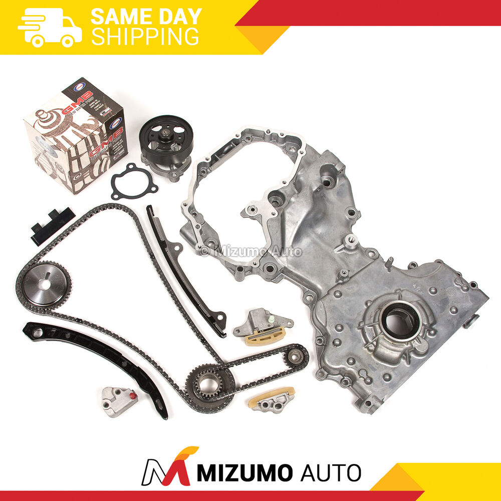 Timing chain kit water pump oil pump fit 07 09 nissan for Motor oil for 2005 nissan altima
