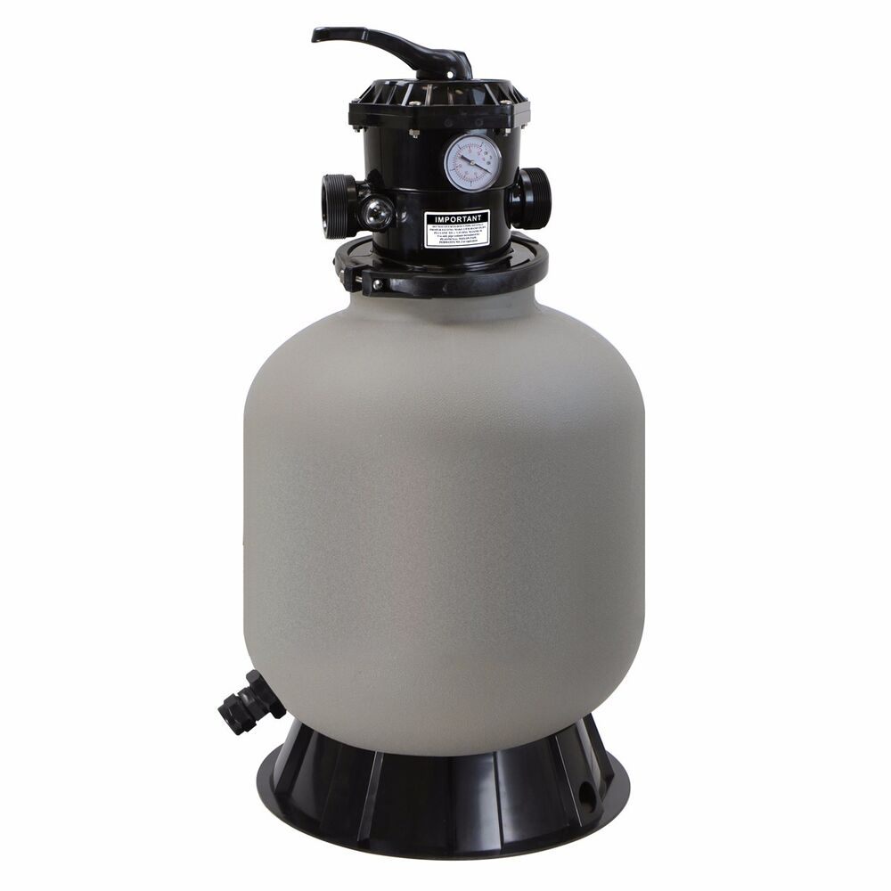 16 inch swimming pool sand filter with 7 way valve inground pond fountain new ebay. Black Bedroom Furniture Sets. Home Design Ideas
