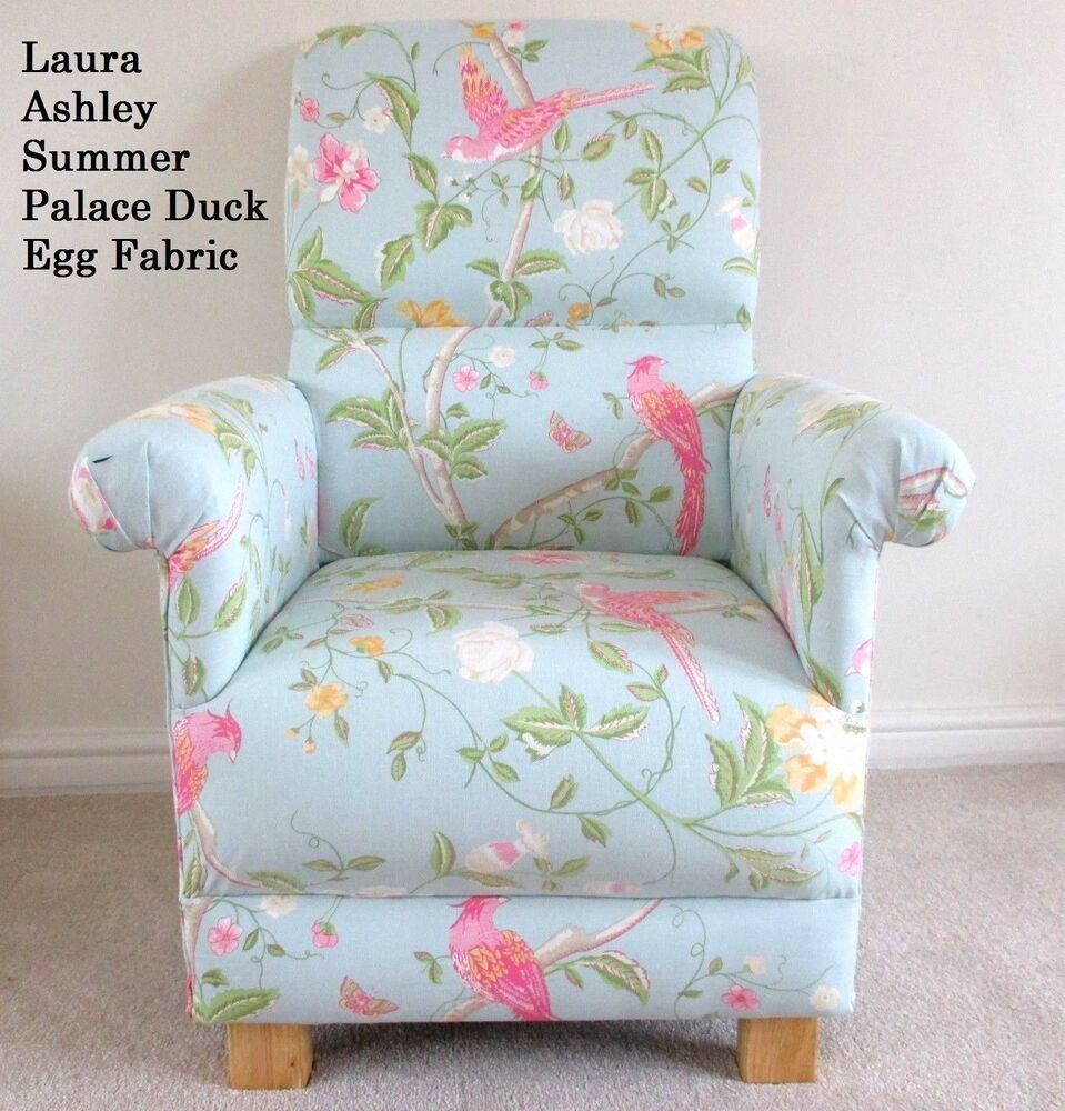 Laura Ashley Summer Palace Fabric Chair Duck Egg Pink