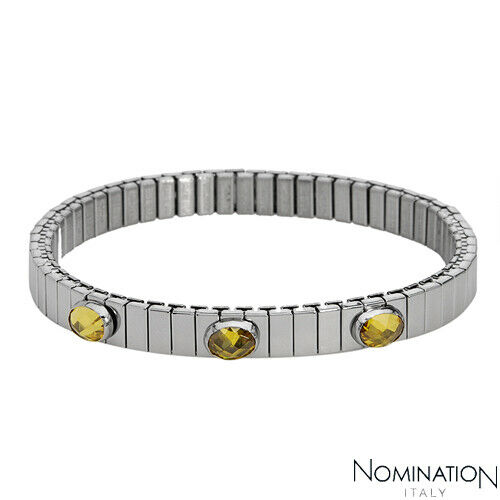 Nomination Bracelet Charms: NOMINATION ITALY Made In Italy Three-stone Bracelet In